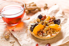 Apricot prune tart Royalty Free Stock Images