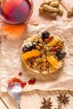 Apricot prune tart Stock Photo