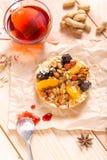 Apricot prune tart Stock Image
