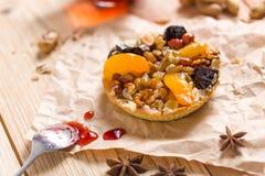 Apricot prune tart Royalty Free Stock Image