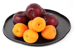 Apricot and Prune on the tray Royalty Free Stock Photos
