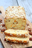 Apricot Quick Bread. With nuts and oats Royalty Free Stock Photo