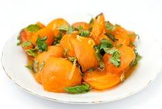 Apricot salad Royalty Free Stock Photo