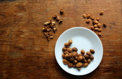Apricot seeds Royalty Free Stock Images