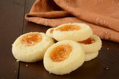 Apricot shortbread cookies Stock Photography