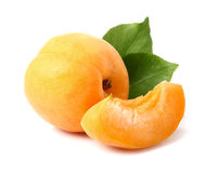 Apricot with slice Stock Photo