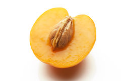 Apricot sliced isolated on white background Royalty Free Stock Photo