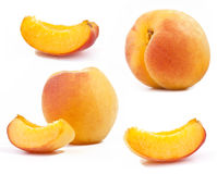 Apricot, slices of apricot Stock Image