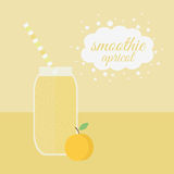 Apricot smoothie in jar on a table Royalty Free Stock Photo