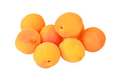 Apricot. Some ripe apricot, isolated on white background Stock Photos