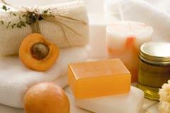 Apricot spa behandeling Royalty-vrije Stock Foto