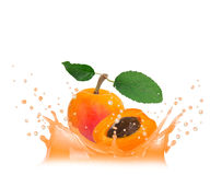 Apricot splash Royalty Free Stock Photography