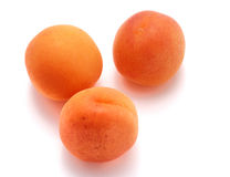 Apricot on white background Royalty Free Stock Images