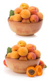 Apricot on white background Royalty Free Stock Photo