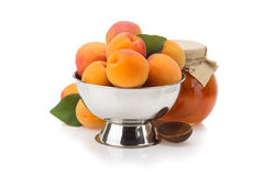 Apricot on white background Stock Images