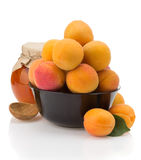 Apricot on white background Royalty Free Stock Photography
