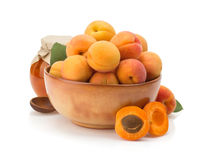 Apricot on white background Royalty Free Stock Image