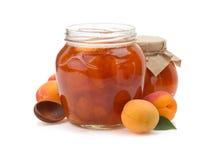 Apricot on white background Royalty Free Stock Photos
