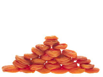 Apricots as a pyramid. Royalty Free Stock Image