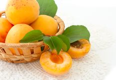 Apricots in a basket Stock Images