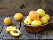 Apricots in a basket Royalty Free Stock Photography