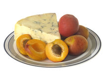 Apricots with Blue Cheese Royalty Free Stock Photography