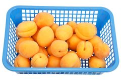 Apricots in a box Royalty Free Stock Photos