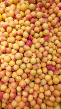 Apricots bulk. Fruit bulk fresh food natural bio marker peaches stock image