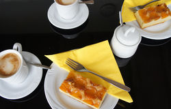 Apricots cake Royalty Free Stock Photo