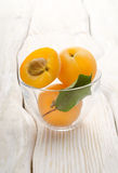 Apricots in a cup Royalty Free Stock Photo