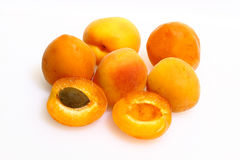 Apricots, fruit, vegetarian Royalty Free Stock Images