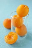Apricots in a glass Royalty Free Stock Photography