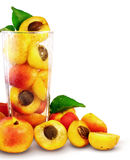 Apricots in the glass Stock Image