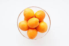 Apricots in a glass bowl Stock Photography