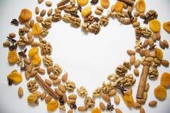 Apricots heart Stock Photo