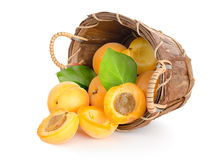 Free Apricots In A Basket Stock Photos - 25121423