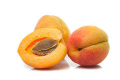 Apricots isolated Stock Image