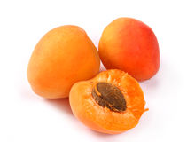 Apricots isolated on a white b Stock Photo