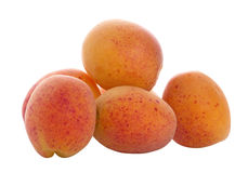 Apricots. Isolated on white background Royalty Free Stock Photo