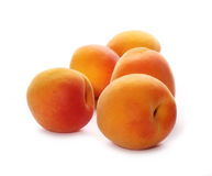 Apricots isolated on white Stock Images