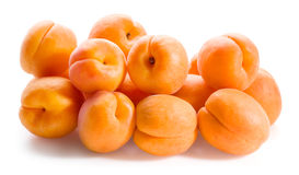 Apricots isolated on white background Stock Image
