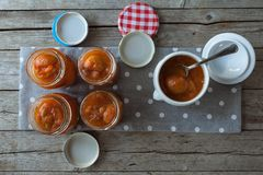 Apricots Jam Jars Royalty Free Stock Photography