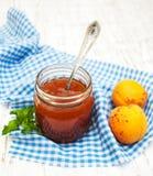 Apricots jam Stock Photos
