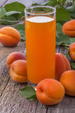 Apricots juice Stock Images