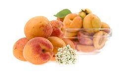 Apricots lie a heap Stock Images