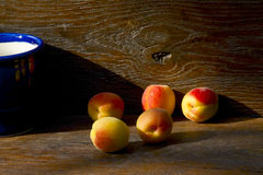 Apricots in the light of the setting sun Royalty Free Stock Photography