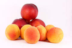 Apricots and nectarines Stock Photos