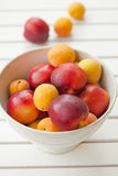 Apricots and nectarines Royalty Free Stock Images