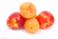 Apricots and peach fruits Stock Photo