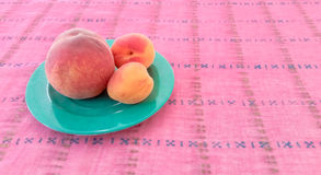Apricots With Peach in a Plate Stock Photos